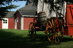 WHR barn and wagon